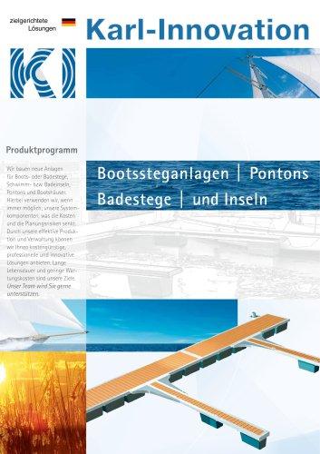 Bootssteganlagen Pontons  Badestege und Inseln