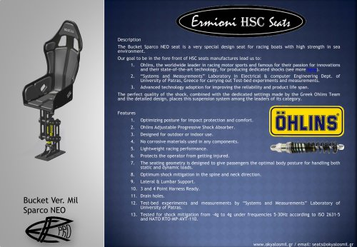 Bucket Ver MIL (Sparco NEO) - Brochure