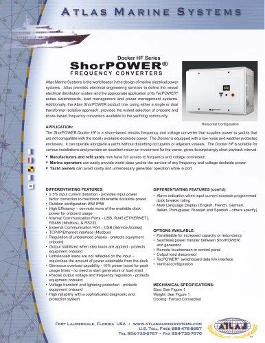 Docker HF Series ShorPOWER® FREQUENCY CONVERTERS